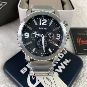 NWT Fossil Gage Chronograph Stainless Steel Watch
